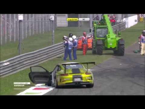 Porsche Super Cup Monza 2016 Huge Multi Car Crash