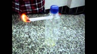 Experimento casero demostración de combustión en diferentes medios