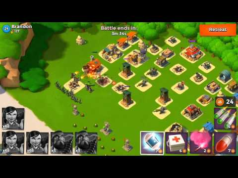 Boom Beach - Let's Play Episode #18: Hammerman's HQ 25!