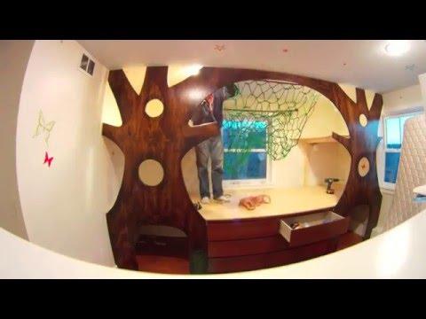 Ông bố tuyệt vời biến phòng ngủ của con gái thành ngôi nhà cây đẹp như truyện cổ tích
