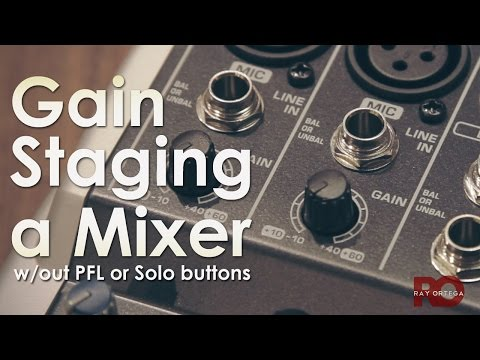 Setting Microphone Levels on a Mixer - Gain Staging with no PFL/Solo Buttons