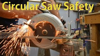 Using a Circular Saw Safely -  Beginners Woodworking #26