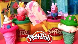 Play Doh Ice Cream Cones Peppa Pig Scoops 'N Treats Playset Cerdita Princess Peppa Nickelodeon