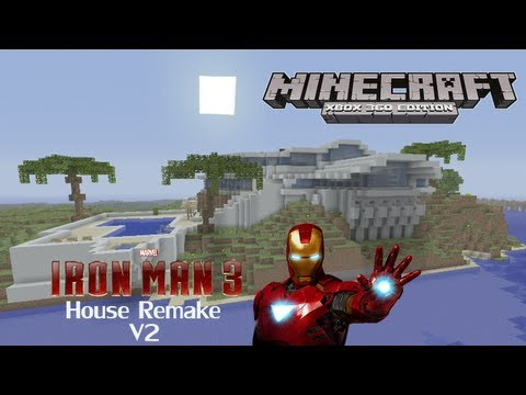 Minecraft Xbox 360 - Iron Man 3 Tony Stark Mansion V2