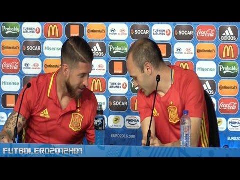 Momento gracioso entre Sergio Ramos e Iniesta ◉ Seleccion ESPAÑA ◉ EUROCOPA ◉ 2016