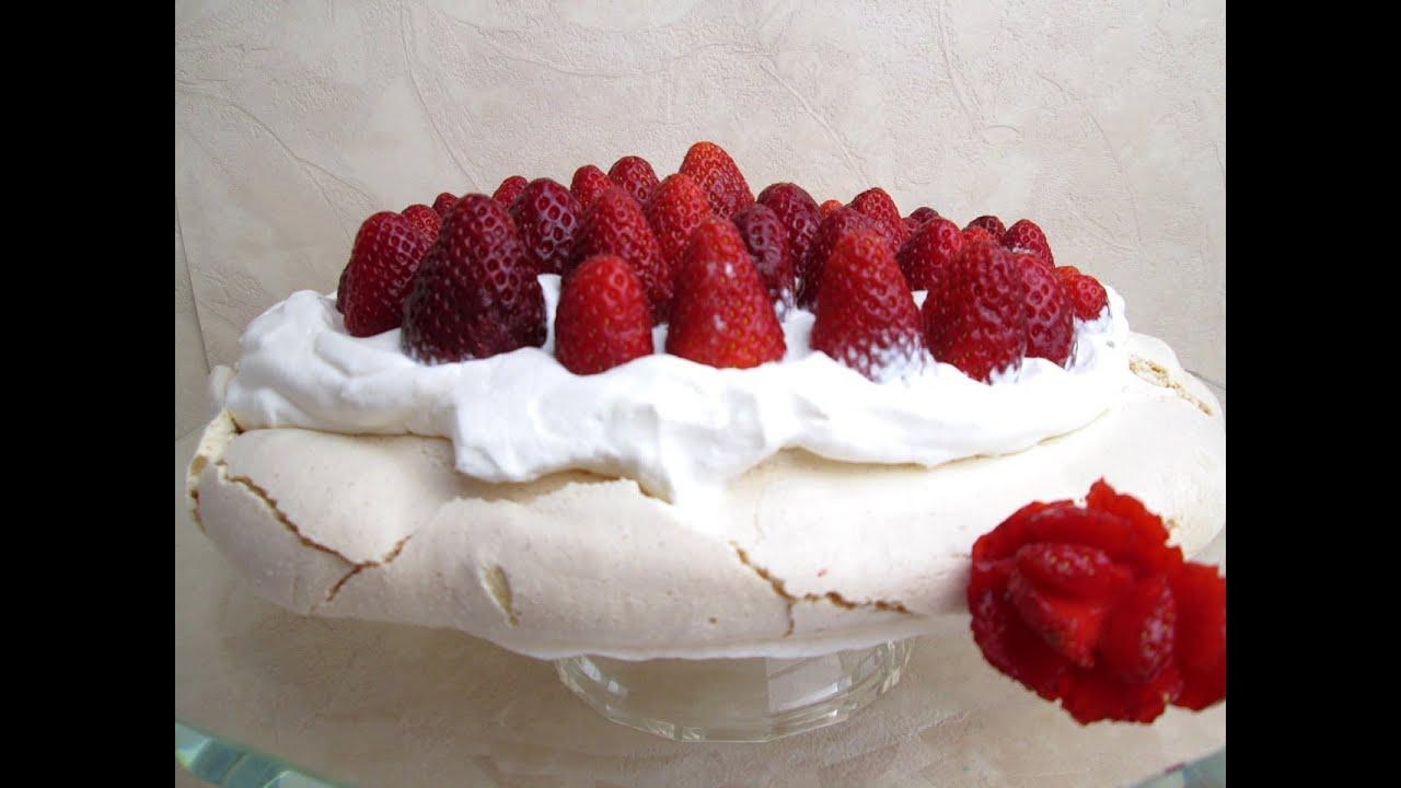 Pavlova alle fragole - Strawberry Pavlova - YouTube