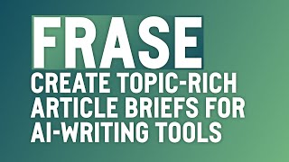 Download lagu Use Frase to Produce Topic-Rich Article Briefs to Get the Most From GPT-3 AI Writers (ShortlyAI)