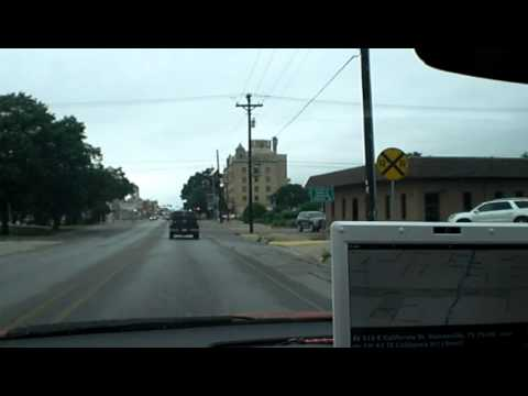 Gainesville, Texas, City Center, California St., MS Streets & Trips, 05-16-2013