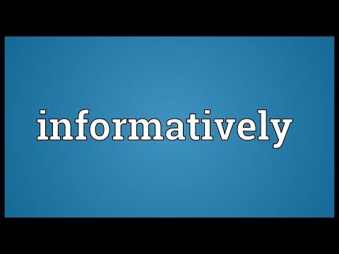 Header of informatively