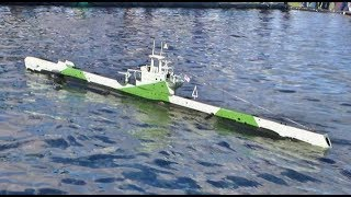 RC SCALE MODEL SUBMARINES IN ACTION & DETAIL AT SOUTHERN HEADCORN RC MODEL SHOW - 2017