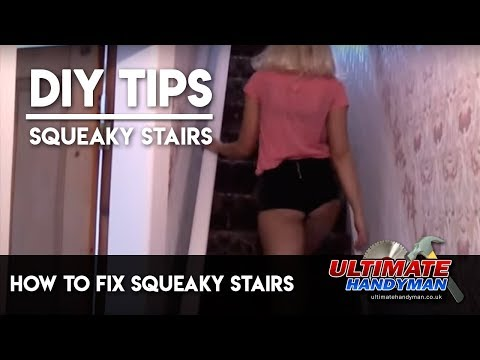 How To Fix Squeaky Stairs Youtube