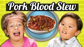 KIDS vs. FOOD - PORK BLOOD STEW (DINUGUAN)