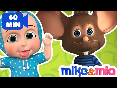 Hickory Dickory Dock Nursery Rhyme | Collection of Kids Songs & Baby Rhymes by Mike and Mia