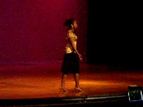Brianna Faulk  doing a monlouge for the Black History Month Program @ Carver Middle School