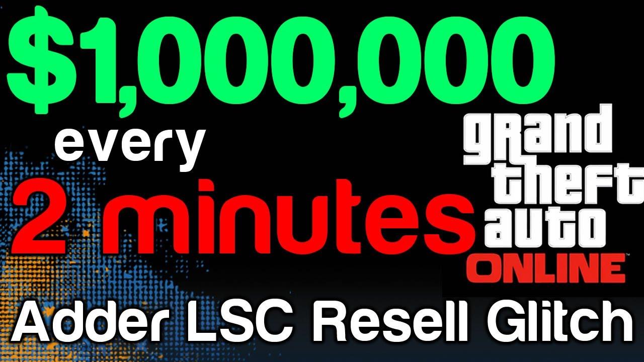 Gta 5 online infinite money making glitch adder lsc resell glitch