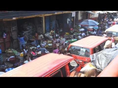 Market Timelapse, Freetown, Sierra Leone, Africa