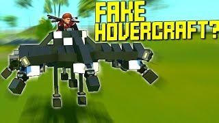 I Made A Fake Hovercraft Using Pistons! - Scrap Mechanic Gameplay