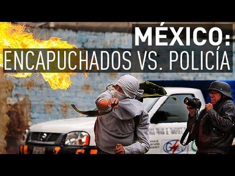 Violentos choques entre encapuchados y la Policía cerca del aeropuerto de México D.F.