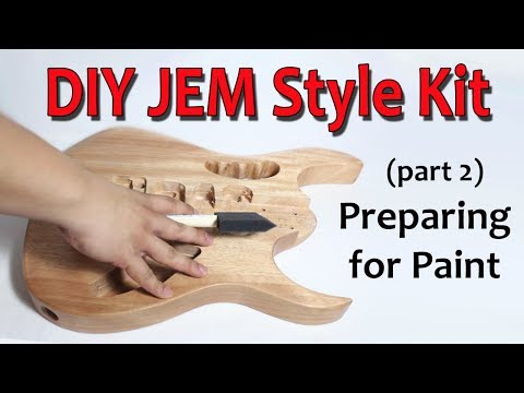 DIY JEM Style Guitar Kit (Part 2: Preparing for Paint)