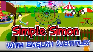 Simple Simon with English Subtitles - Nursery Rhymes & Songs in HD