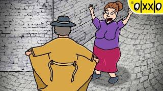 Psycho Guy VS Farting Lady, Samurai Girl & Shehulk | Funny Cartoon