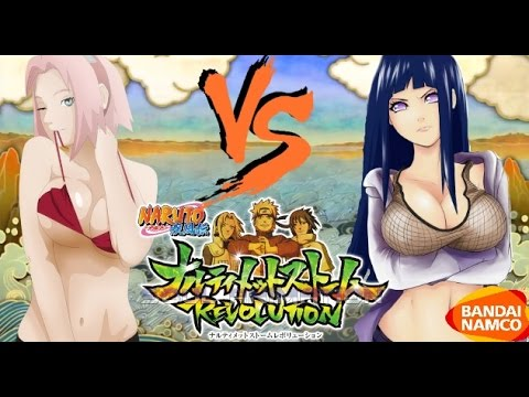 Naruto Ultimate Ninja Storm Revolution: Hinata vs Sakura Bikini DLC Gameplay