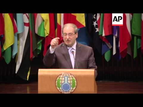 OPCW meeting, Syria's vice FM says his government did not use chemical weapons