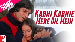 Kabhi Kabhi Mere Dil Mein  (Male) Video Song from Kabhi kabhie