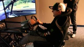 Ken Block and Chris Hoy on the Vesaro Simulator