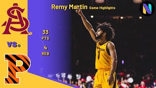 Remy Martin 33 PTS Arizona State Wildcats vs Princeton Tigers | CARERR HIGH!