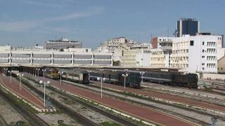 Tunisia - Loco hauled passenger trains at Tunis Ville