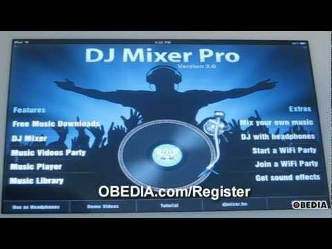 Apple iPad Tutorial: DJMixer Pro app