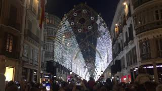 Weihnachtsbeleuchtung in Malaga/Andalusien Dez.2018