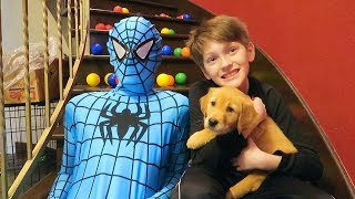 Spiderman to The Rescue In Real Life - Beaherokids