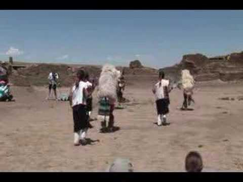 Zuni Dancers at Chaco Canyon