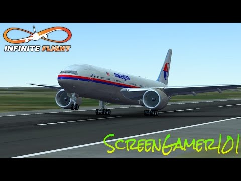 Infinite flight MALAYSIA AIRLINES  BOEING 777-200 takeoff
