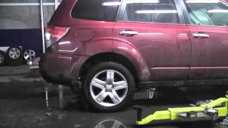 "Subaru Forester OEM rear shock absorbers with springs change on ""Pedders suspension"