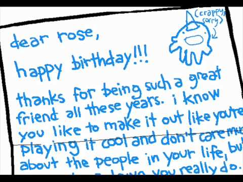 Write a letter to your friend birthday party