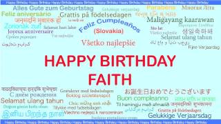 Faith   Languages Idiomas - Happy Birthday