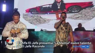 """#GenteRD  El Alfa presenta """"La Manta"""" nuevo talento de El Jefe Records"""