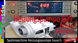 E09 Spühlmaschine Austausch Heizungspumpe (Bosch)