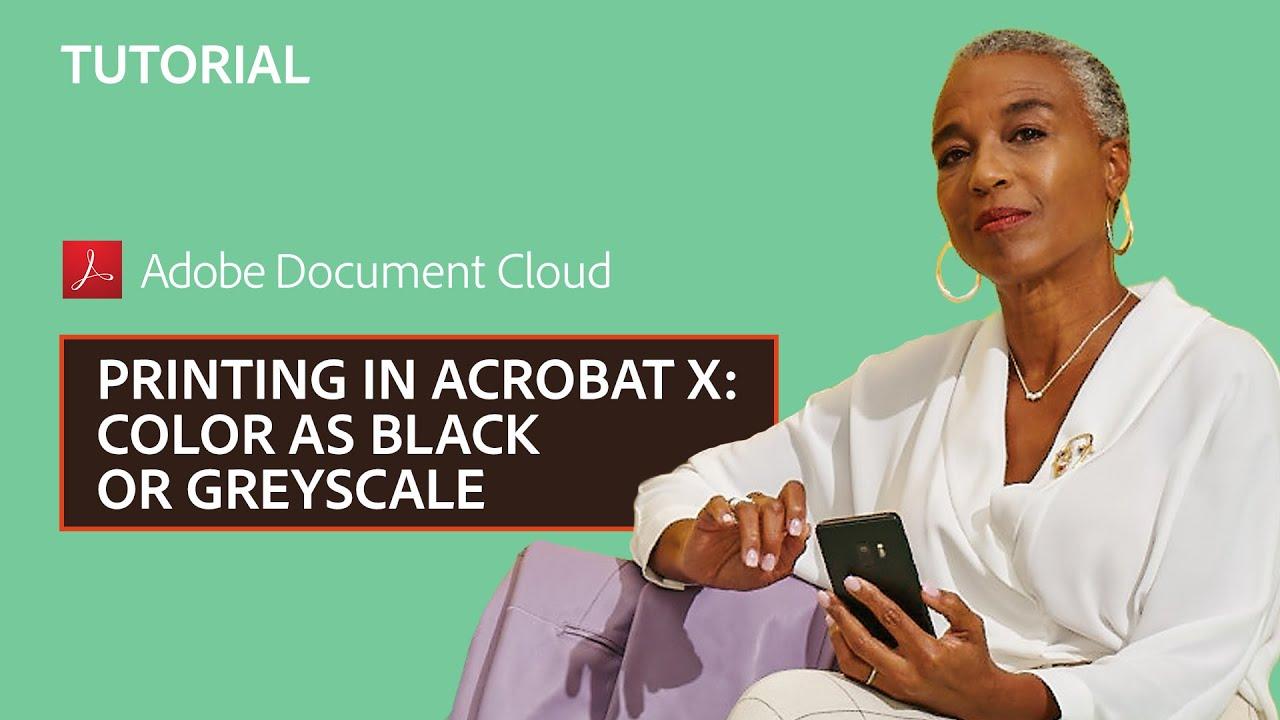 Как сделать pdf черно-белым в acrobat pro