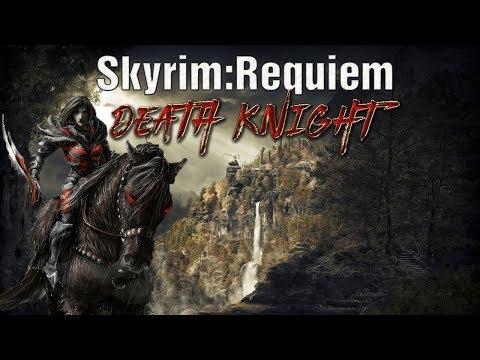 Skyrim - Requiem (без смертей)  Данмер-рыцарь смерти и драконы сосат