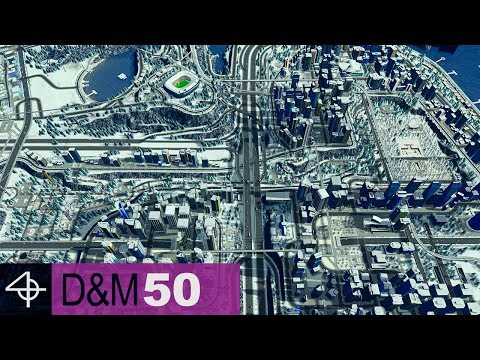 Complete Downtown Area & Sunken Park | Unmodded Cities: Skylines – Design and Manage, Part 50