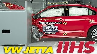 2015 Volkswagen Jetta CRASH TEST IIHS Small Overlap [GOOD]