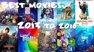 My Top 10 Best Animation Movies 2013-2016