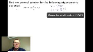 5.4 Equations & Graphs of Trig Functions (Pre-Calc 30)