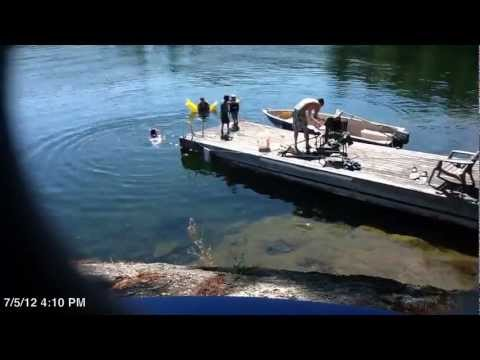 Swimming on Lac Grand - Time Lapse (2) (HD)
