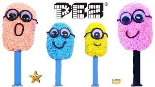 Bergen Turns PEZ MINIONS Into FOAM HEADS GAME | Despicable Me 3 Surprise Toys - LEARN COLORS