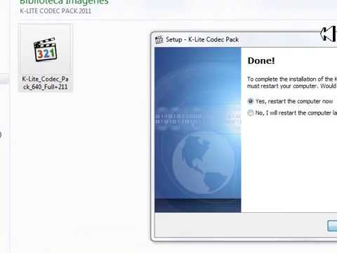 TUTORIAL COMO DESCAR E INSTALAR K-LITE CODEC PACK FULL 2011